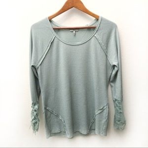 BKE lace sleeve thermal top